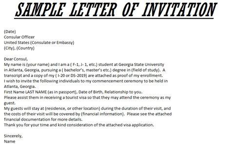 visa application letter sample invitation letter