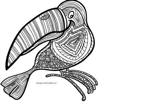 immagini di animali mandala da colorare mandala da colorare il tucano disegni mammafelice