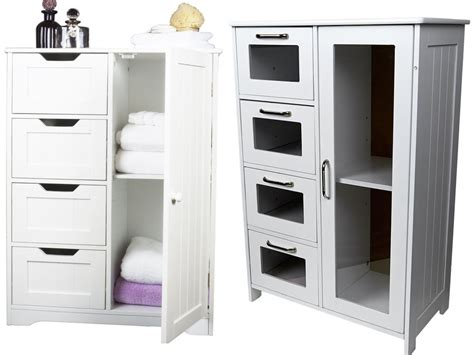 White Wooden Cabinet W 4 Drawers / Glass & Cupboard American Home Furniture Denver Executive Office Sets Goods Online Outdoor Cushions Depot Mumbai Show Rental Dons Bedroom