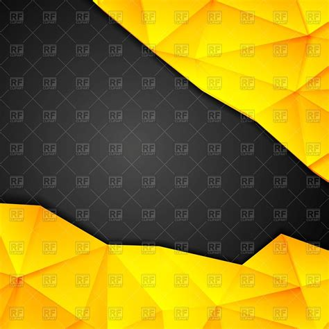 tech polygonal yellow  black background vector