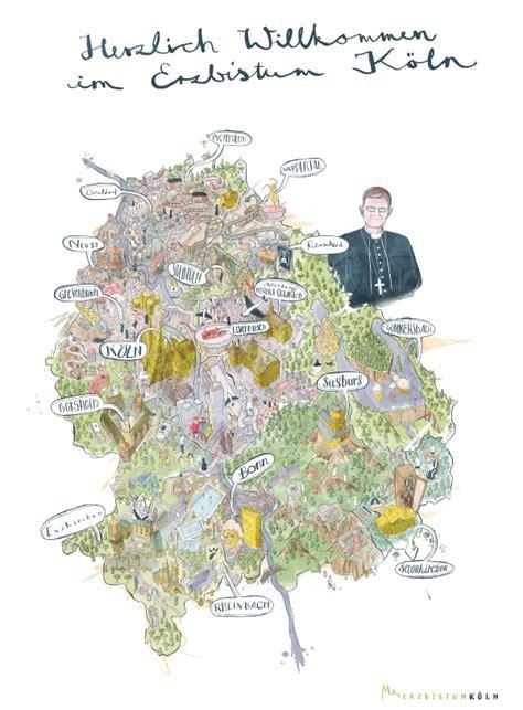 illustrierte bistumskarte erzbistum koeln