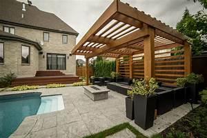 Pergola Holz Modern : pergola modern laval minimalistisch sonstige von ~ Michelbontemps.com Haus und Dekorationen
