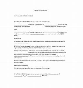prenuptial agreement template 10 free word pdf With online prenuptial agreement template