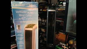 Lasko 42 U0026quot  Wind Curve Tower Fan Unboxing  Installation