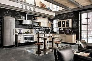 Decoration Industrielle Vintage : cuisine industrielle 43 inspirations pour un style industriel ~ Teatrodelosmanantiales.com Idées de Décoration