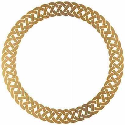 Border Transparent Frame Round Clip Golden Clipart