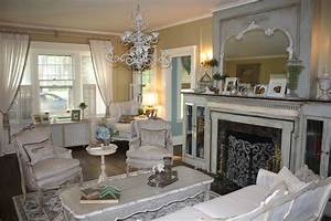 French Country Living Room Makeover - Eclectic - Living