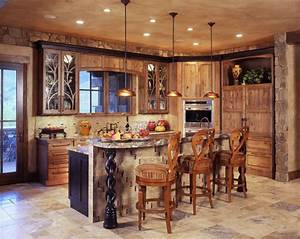 Framed Glass Door Wall Kitchen Cabinet Rustic Country
