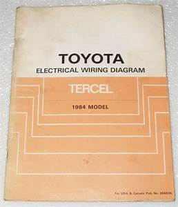 1984 Toyota Tercel Original Electrical Wiring Diagrams