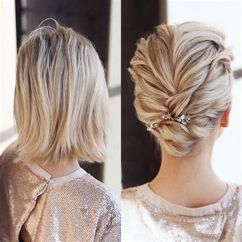 wunderschoene hochzeit frisuren fuer kurze haare duennes
