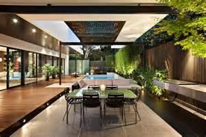 Alfresco Patio Photo by Indoor Outdoor House Design With Alfresco Terrace Living