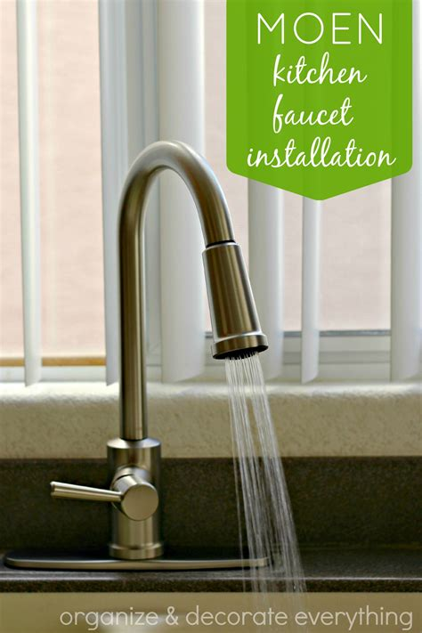 how to install a moen kitchen faucet moen kitchen faucet installation organize and decorate