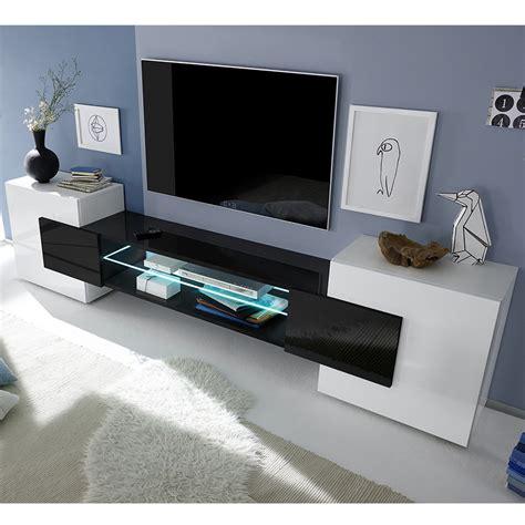 chaise haute industriel meuble tlvision blanc et noir laqu brillant sofamobili
