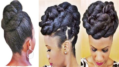 Easy Updo Hairstyles For Black Hair by 15 Collection Of And Easy Updo Hairstyles For Black Hair