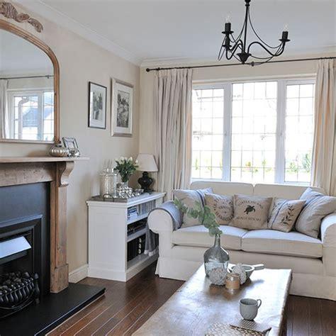 cream  grey living room