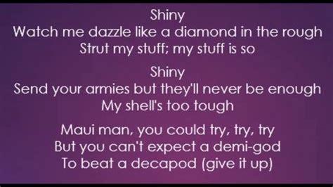 moana jemaine clement shiny lyrics youtube