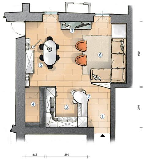 arredare cucina e soggiorno insieme cucina a vista e soggiorno insieme progetto in pianta