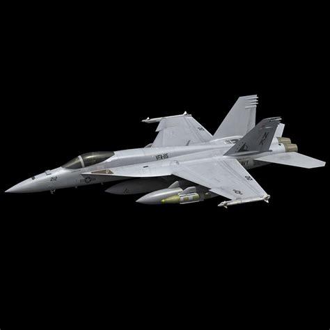 F A-18e Super Hornet 3d Model