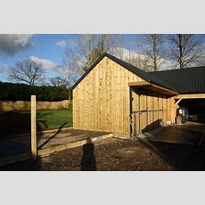 Cladded Barn With Stables  The Wooden Workshop  Oakford