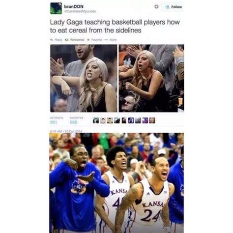 Invisible Cereal Meme - breaking news lady gaga teaches basketball players how to eat invisible cereal funny clean