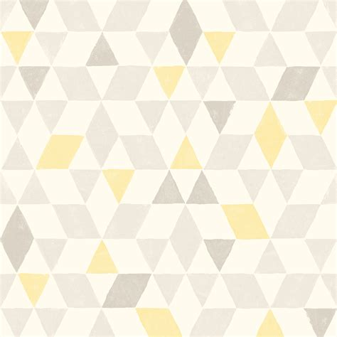 soft lemon geometric wallpaper departments diy  bq