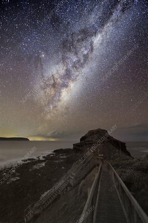 Milky Way Over Cape Schanck Australia Stock Image C011