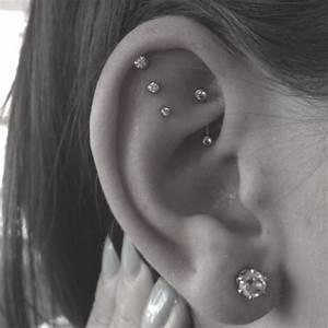 Loving this triple helix. Next piercing? | Piercings ...