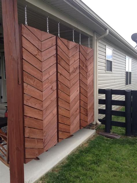 build  herringbone privacy screen privacy fence