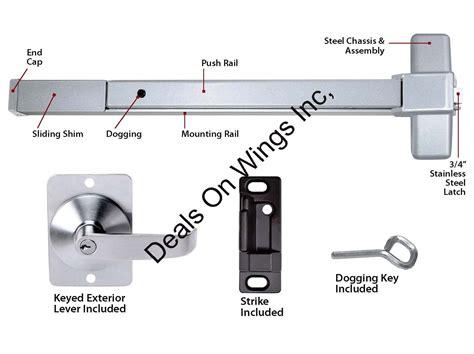 push bar door lock mechanism door push bar panic exit device lock emergency hardware