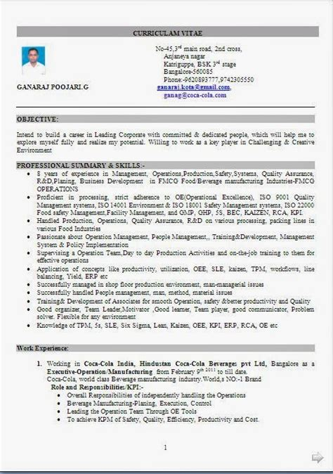 best resume format free