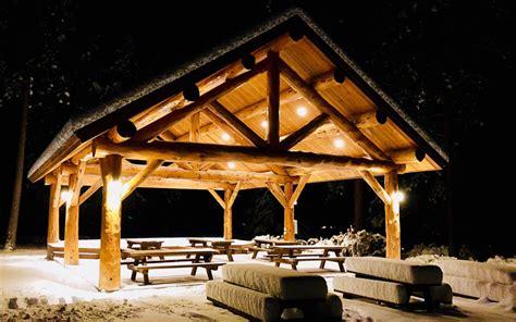 log pavilion meadowlark log homes