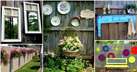 Garden Decoration Fence by Diy Outdoor Projects 18 Lovely Fence Decorating Ideas