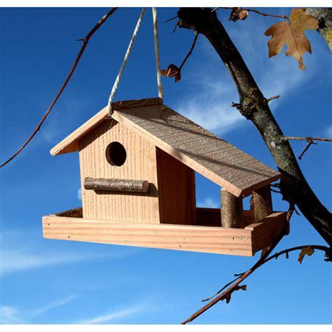 le nichoir et mangeoire pour oiseaux en bois douglas certifi 233 pefc