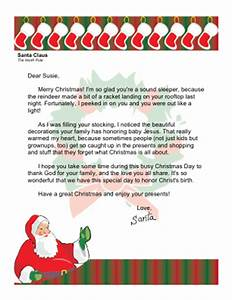 christmas morning letter from santa with religious theme With christian christmas letter