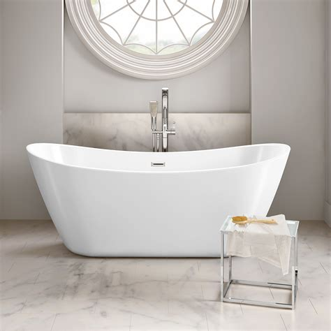 large white wall mirror modern bathroom designer curved freestanding roll top bath