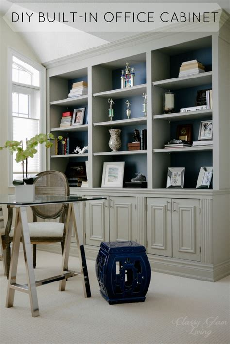 Diy Builtin Office Cabinet — Classy Glam Living