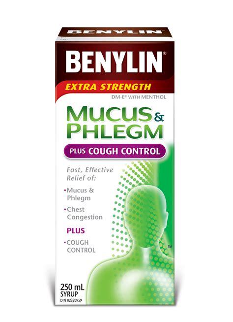mucus phlegm  cough control syrup benylin canada