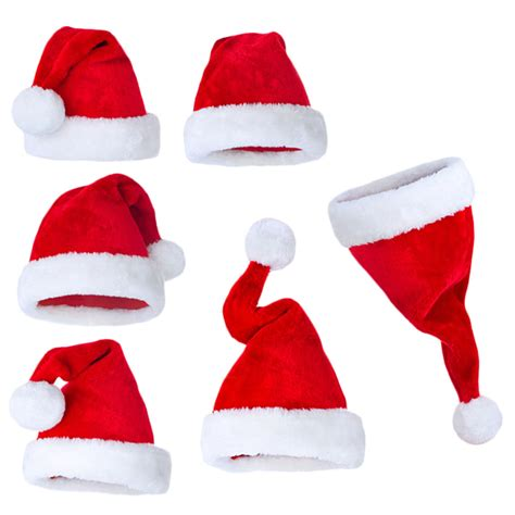 new years christmas party santa hats red and white cap