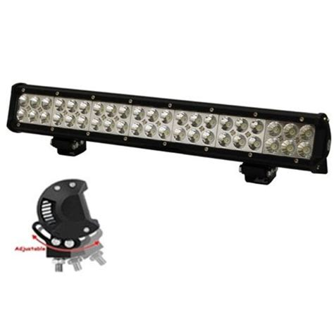 eyourlife 126w 12600lm led road light bar flood spot