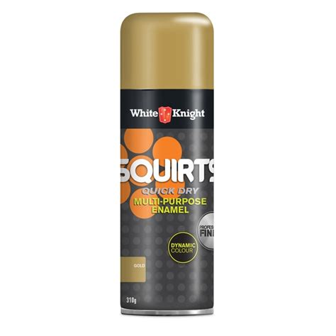 white knight squirts 310g gold spray paint bunnings