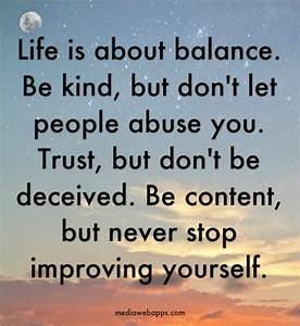 Balance Life Qu... Life Love Peace Quotes