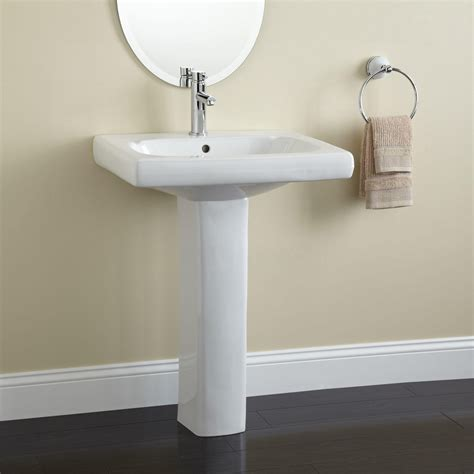 White Pedestal Sinks by Modern Pedestal Sink With Towel Bar Homesfeed
