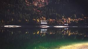 Lake, House, Wallpapers