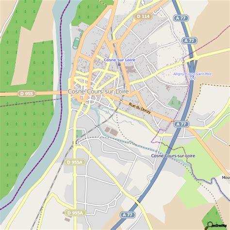 plan cosne cours sur loire carte ville cosne cours sur loire