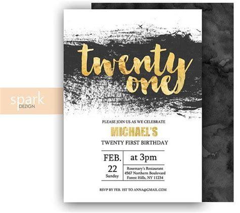 FREE 21st Birthday Invitations Wording for John 21st