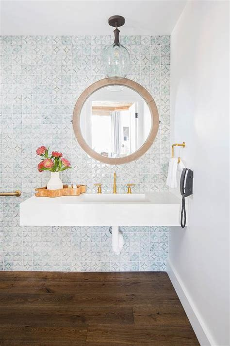 mosaic tile bathroom accent walls design ideas