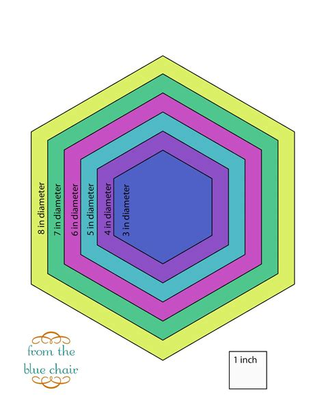 hexagon template from the blue chair tutorial cutting accurate hexagons without a template