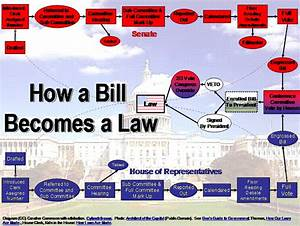 How A Bill Becomes A Law U2026usa  U2013 Diagram
