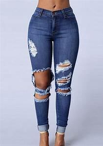 Zerrissene Jeans Hose Damen Super Jeans In Dieser Saison