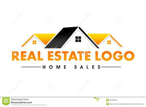 Real Estate Logo Stock Illustration. Illustration Of House
